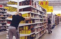 Moving Supermarket Shelving