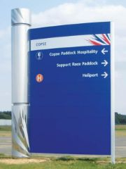 Curved monolith sign