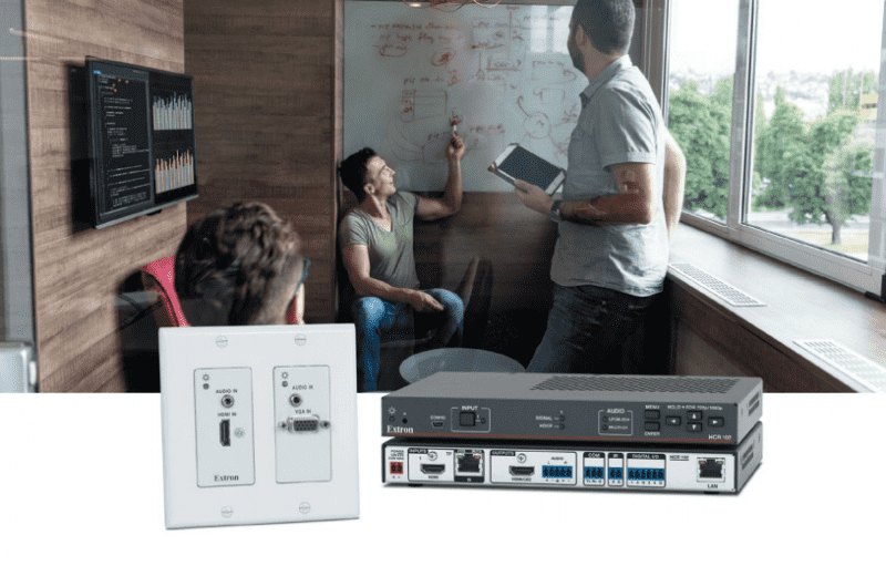 Extron's New Cost-Effective Collaboration System with Wall Transmitter