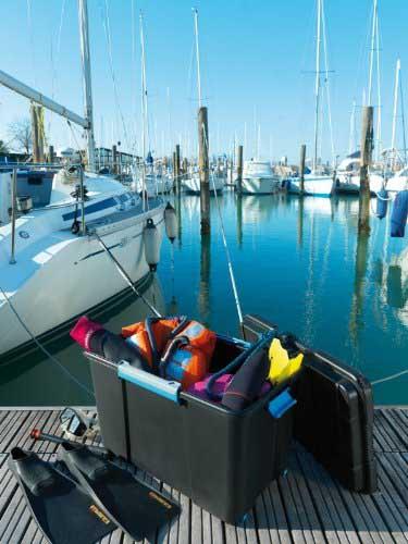 Scuba Box Water Resistant Plastic Storage Trunks