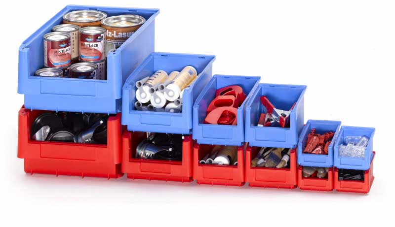Small Parts & Component Plastic Storage Bins