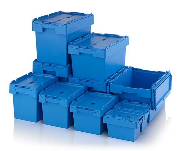 Attached Lid Boxes u0026 Lidded Distribution Container  sc 1 st  Businessmagnet & Solent Plastics Plastic Stacking Crates Stacking Plastic Boxes ...