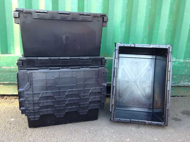 The Lowest Cost 80 Ltr Industrial Strength Lidded Plastic Crates