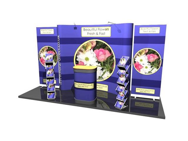 3x3 Curved Pop Up Stand Exhibition
