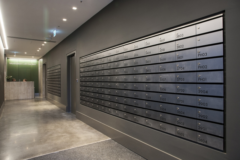 Manhattan Loft Gardens | A classy new developement with luxury tile mailboxes
