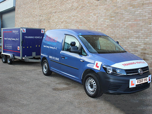 Wallace B+E training  for Van and trailer licence