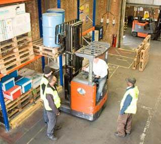 Forklift Training at Wallace Warehouse