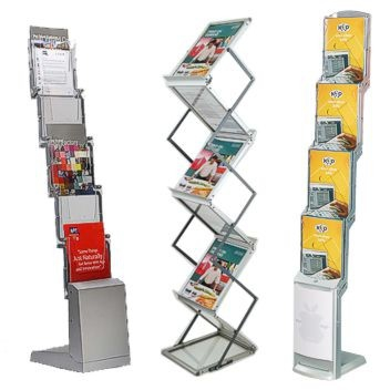 Folding brochure stands