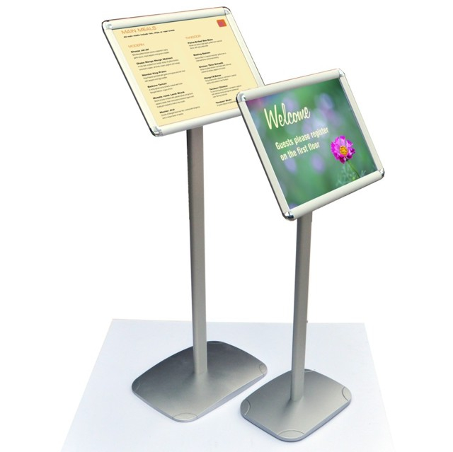 Free standing snap frames interior signs
