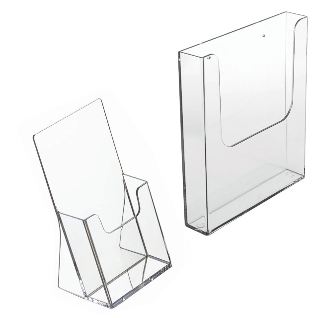 Leaflet dispensers wall or table