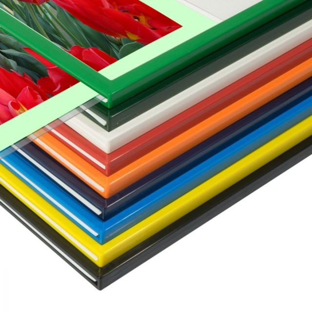 Plastic poster frames to display signs