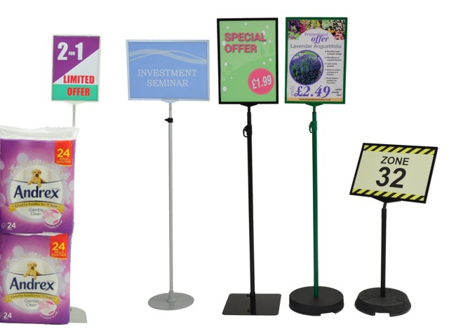 Poster display stands sign stand