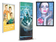 Backlit displays light boxes