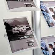 Brochure display racks for showrooms