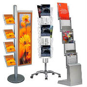 Literature dispensers floor stands racks