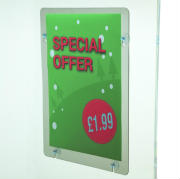 Window signage holders