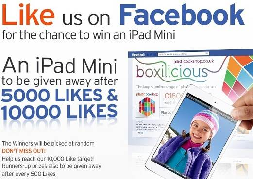 Follow us on Facebook to be in with a chance of winning an iPad Mini