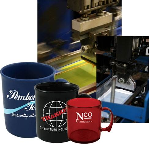 Ceramic Mugs & Cups printed with your logo.