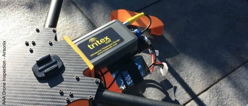 Dedicated Drone Ultrasonic Thickness Gauge Transmits Data up to 500 Metres