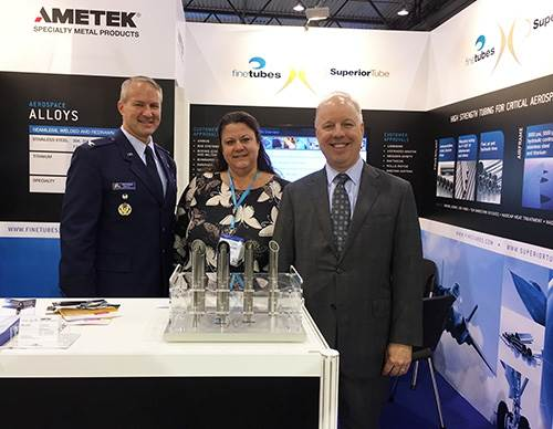 American embassy visits Superior Tube  Fine Tubes on their stand at ILA Berlin