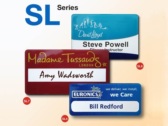Reusable name badges - made to order