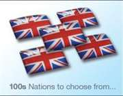 Flag decals - 100 nations to chose from.