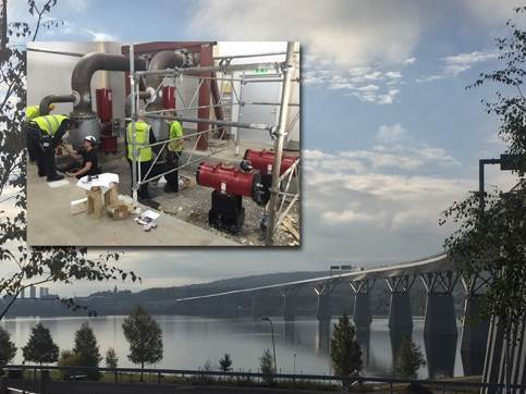 Rotork emergency shut-off solution protects pipelines on motorway bridge