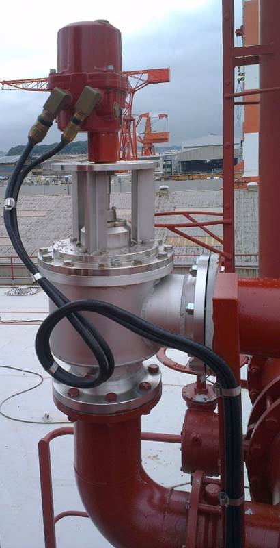 Rotork valve actuation in advanced oil tanker VOC emission control system