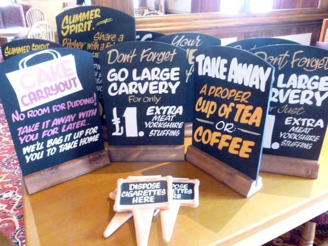 Hand Written Pictoral Signs