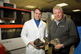 Ex Made in Chelsea star uses Barnstaple firm to create hi-tech security bracelet out of four-billion-year-old meteorite