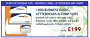 1000 Business Cards, Letterheads & Comp Slips