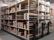 Stockroom roller racking systems