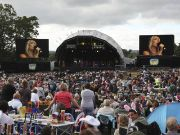 2 x 46sqm Mobile Screens at an outdoor concert