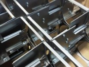 Mild steel chassis for fibre optics unit