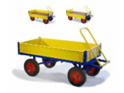 Flatbed Turntable Trolley With Sides